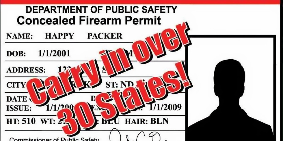 Utah Non-Resident Concealed Firearm Permit Class & FREE MD HQL