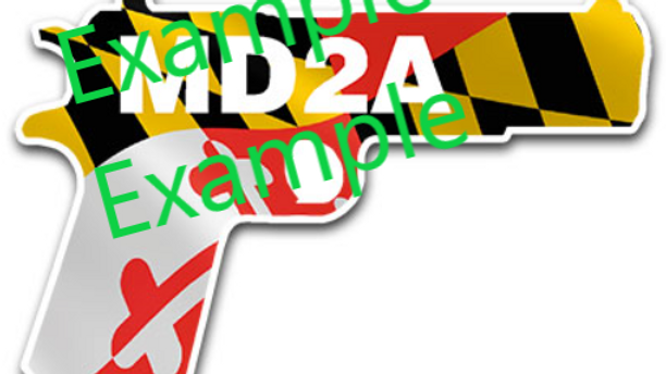 Maryland 2A Decal - Pistol