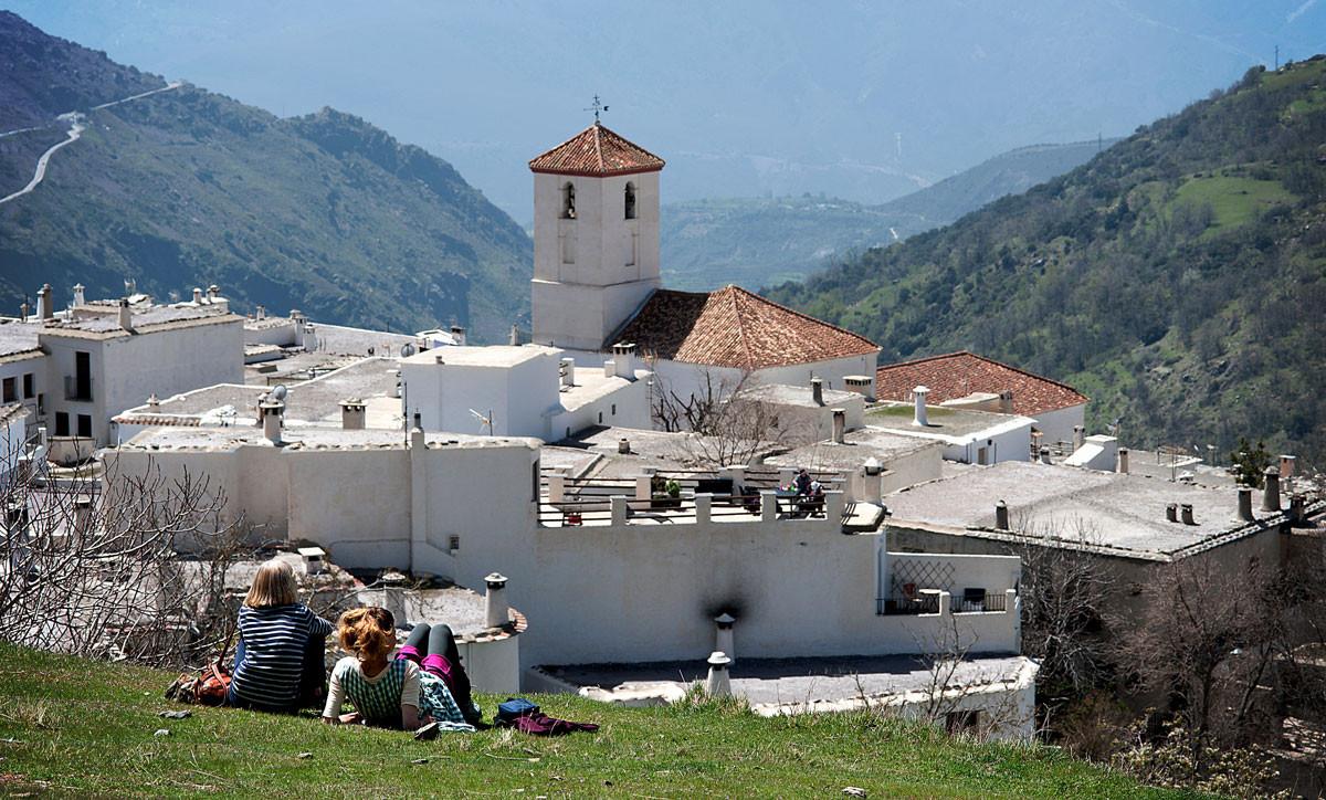 Pueblo de Bubión en la Alpujarra