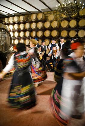 Música tradicional en la bodega