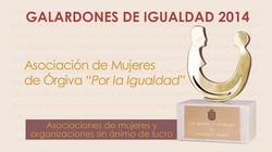 Galardones de Igualdad 2014