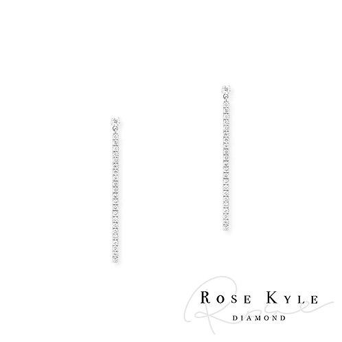Rosekyle Diamond GIA 0.06ct /14K white gold Earring