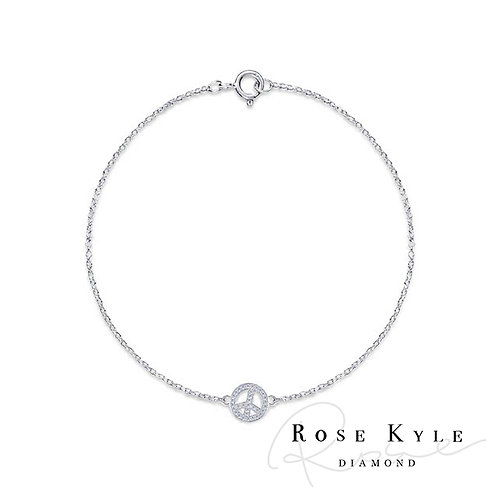 Rosekyle Diamond 0.08ct 14K white gold Bracelet