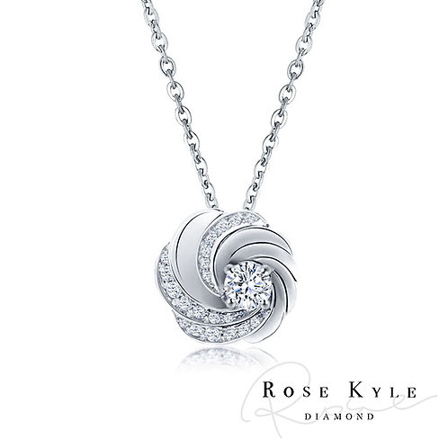 Rosekyle Diamond GIA 0.50ct D vs1/18K white gold Necklaces