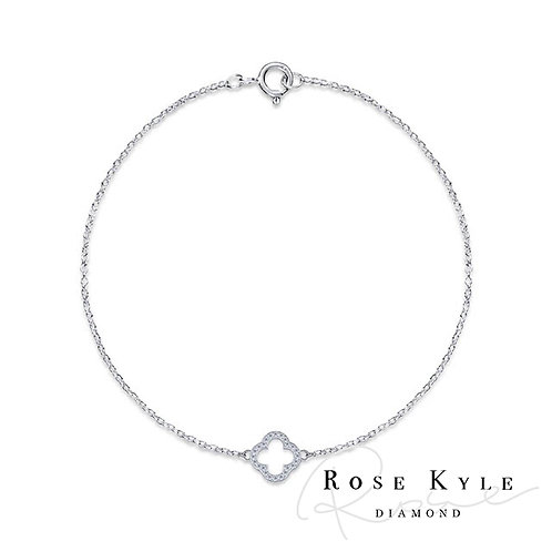 Rosekyle Diamond 0.12ct 14K white gold Bracelet