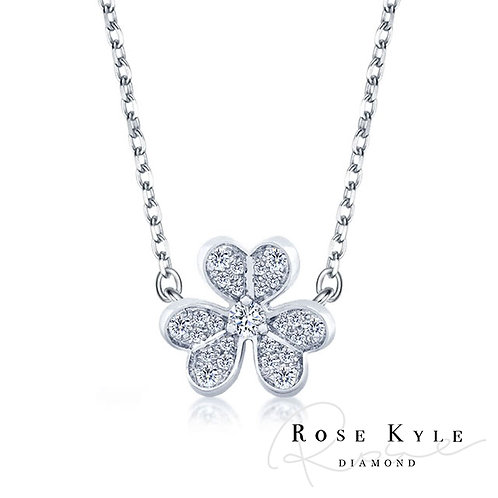 Rosekyle Diamond 0.11ct 14K white gold Necklaces