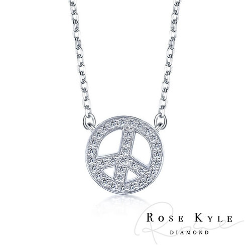 Rosekyle Diamond 0.08ct 14K white gold Necklaces