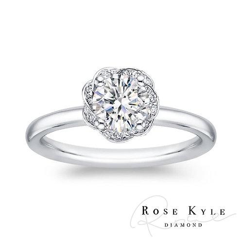 Rosekyle Diamond GIA 0.50ct D vs2 /18K white gold Engagement Ring