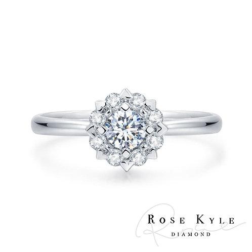 Rosekyle Diamond GIA 0.30ct D vvs2 /18K white gold Engagement Ring