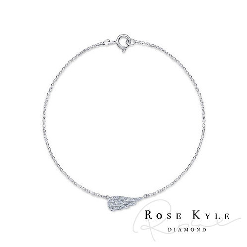 Rosekyle Diamond 0.20ct 14K white gold Bracelet
