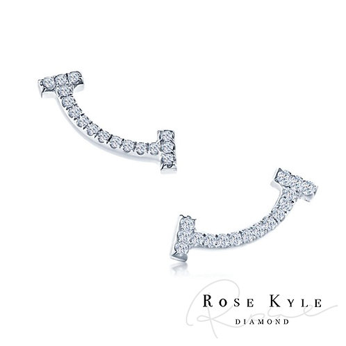 Rosekyle Diamond GIA 0.12ct /14K white gold Earring
