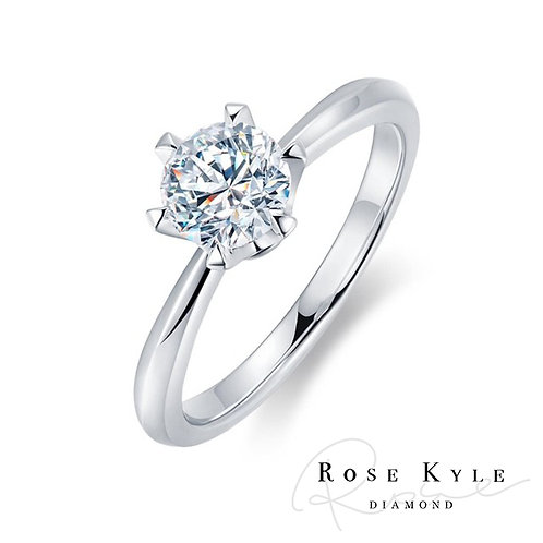 Rosekyle Diamond GIA 0.30ct F color /14K white gold Engagement Ring