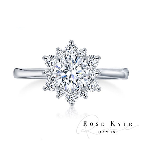 Rosekyle Diamond GIA 0.30ct F color /18K white gold Engagement Ring