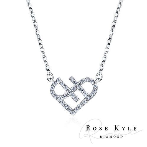 Rosekyle Diamond 0.23ct 14K white gold Necklaces