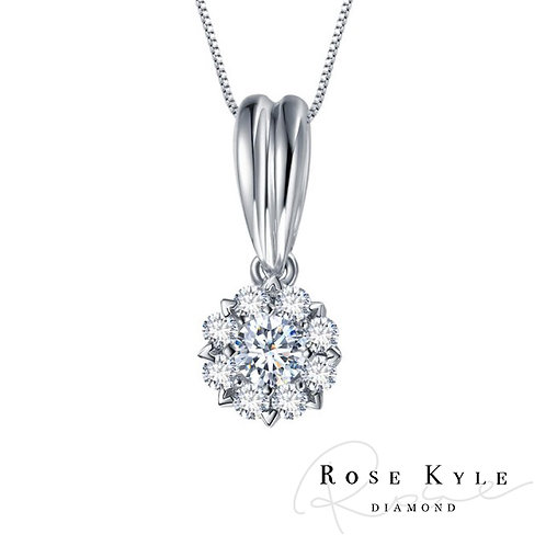 Rosekyle Diamond 0.20ct 14K white gold Necklaces