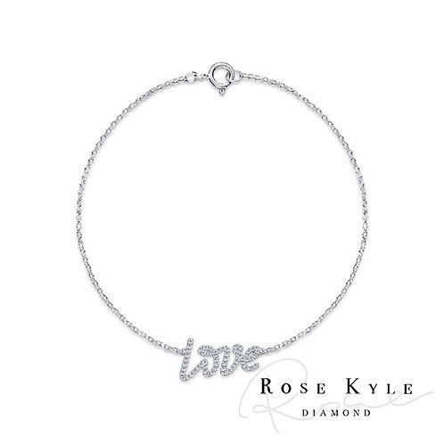 Rosekyle Diamond 0.21ct 14K white gold Bracelet LOVE