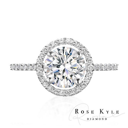 Rosekyle Diamond GIA 0.30ct D vvs2 /18K white gold Engagement Ring