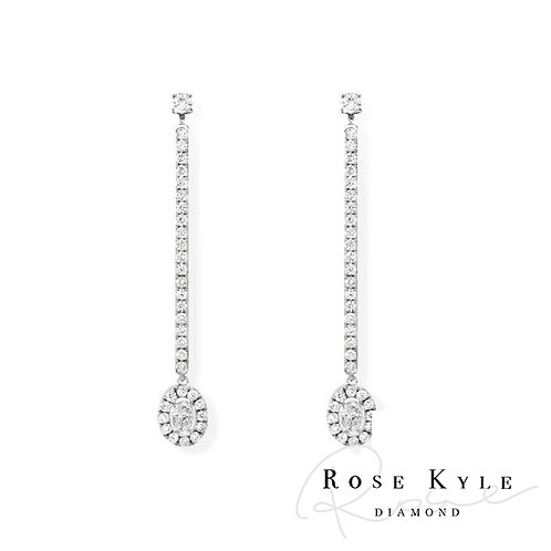 Rosekyle Diamond GIA 0.08ct /14K white gold Earring