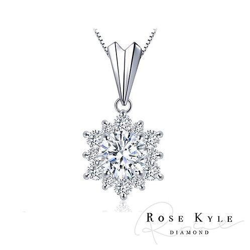 Rosekyle Diamond GIA 0.30ct D vvs2 /18K white gold Necklaces
