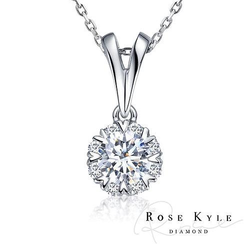 Rosekyle Diamond GIA 0.50ct D vs2 /18K white gold Necklaces