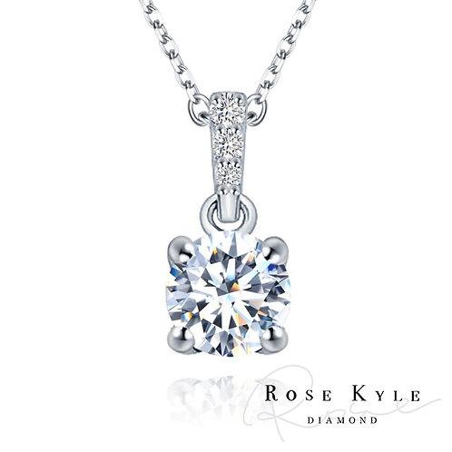 Rosekyle Diamond GIA 0.30ct F color /18K white gold Necklaces