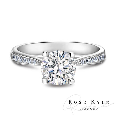 Rosekyle Diamond GIA 0.50ct D vs2 /18K white gold Engagement Ring