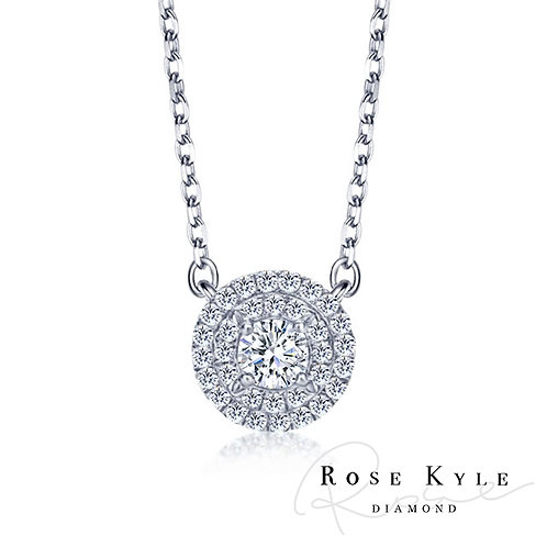 Rosekyle Diamond 0.22ct 14K white gold Necklaces