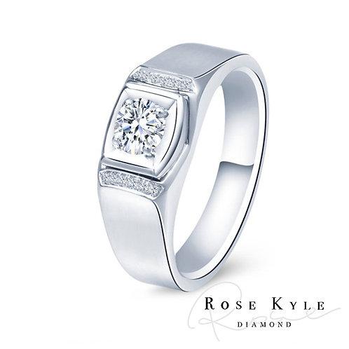Rosekyle Diamond GIA 0.30ct D vvs2 / 18K Men's Ring.