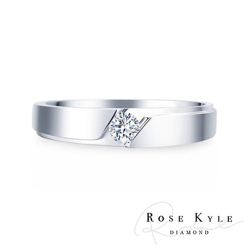 Rosekyle Diamond GIA 0.30ct D vvs2 / 18K Men's Ring.