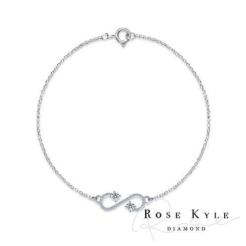 Rosekyle Diamond 0.13ct 14K white gold Bracelet