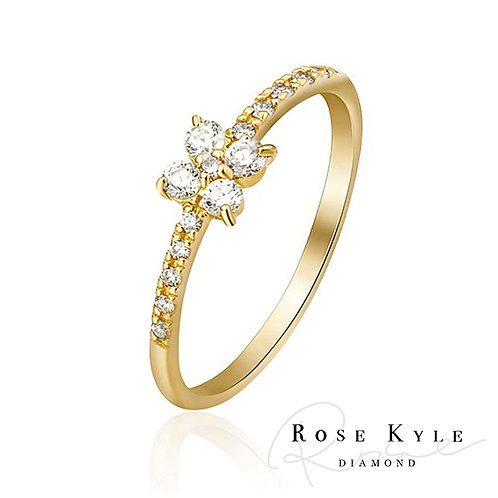 Rosekyle Diamond 18K yellow gold Ring