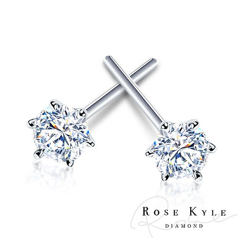 Rosekyle Diamond 0.20ct 14K white gold earring