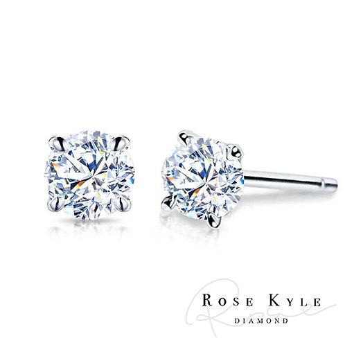Rosekyle Diamond 0.20ct 14K white gold Earring