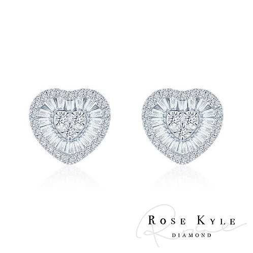Rosekyle Diamond 0.50ct 18K white gold Earrings