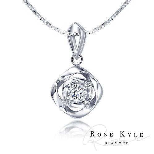 Rosekyle Diamond 0.10ct 14K white gold Necklaces