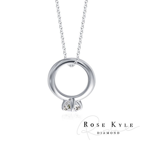 Rosekyle Diamond 0.10ct 14K white gold Necklaces