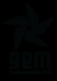 Logo vertical preta