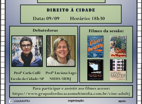 Direito à Cidade (09/09 - 18h30)
