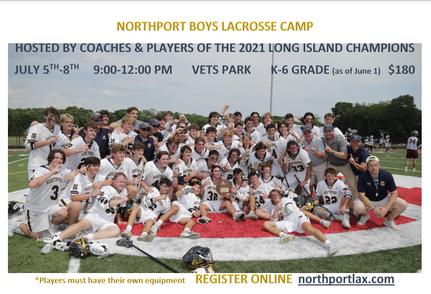Boys Summer Lax Camp Flyer
