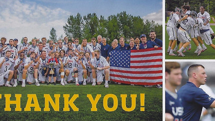 Austin Henningsen and Team USA Thank the Northport Lacrosse Club for Their Support