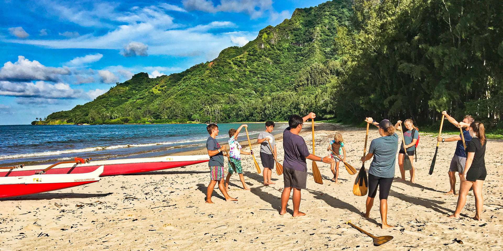 Canoe paddling lessons