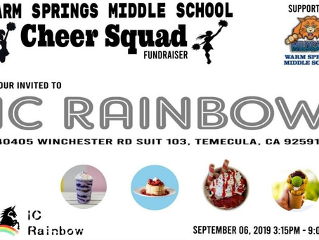 Special Events for September at IC Rainbow, Home to Temecula's Tastiest Treats