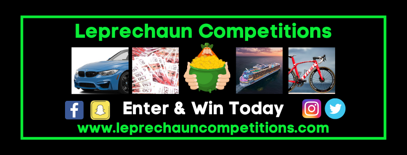 Mobile Friendly FB Banner Leprechaun Competitions