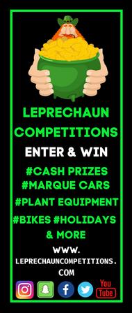 Pop up Banner Leprechaun Competitions