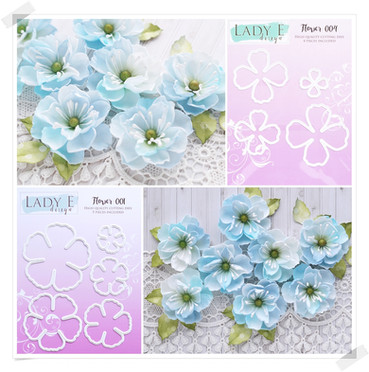 Lady E Design Flower 001 & 004 Cutting Die