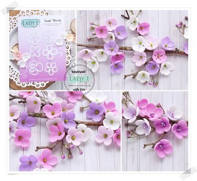 Lady E Design Small Flowers Cutting Die
