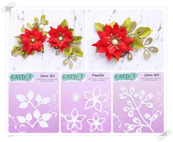 Lady E Design Leaves 003, Poinsettia, Leaf 004 Cutting Die