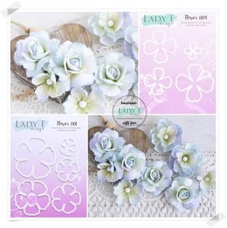 Lady E Design Flower001 & 004 Cutting DieCutting Die Set