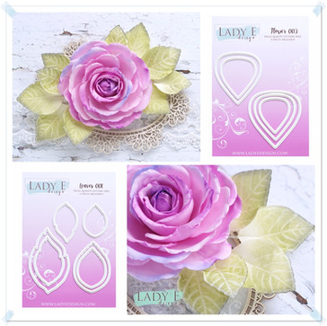 Lady E Design Flower 003 & Leaves 001 Cutting Die