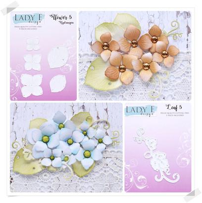 Lady E Design Flower 5 & Leaf 5 Cutting Die